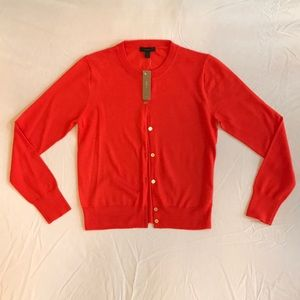 BNWT J. Crew orange button up sweater